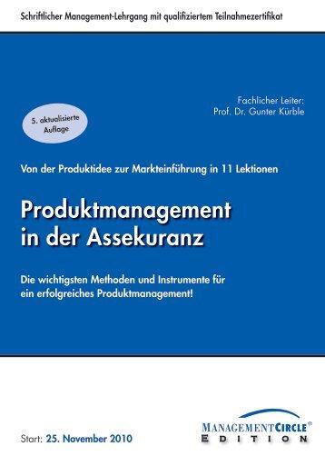 Produktmanagement in der Assekuranz - Management Circle AG