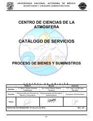 Bienes y Suministros - Centro de Ciencias de la Atmósfera - UNAM