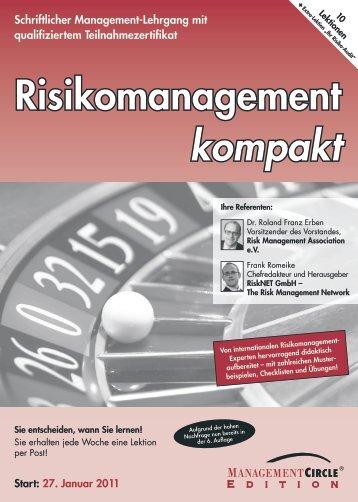 Schriftlicher Lehrgang: Risikomanagement kompakt - Management ...