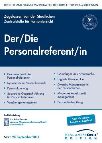 Der/Die Personalreferent/in - Management Circle AG