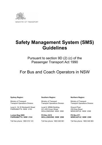 Safety Management System (SMS) Guidelines - Transport for NSW ...