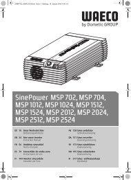 SinePower MSP 702, MSP 704, MSP 1012, MSP 1024 ... - Waeco