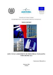 LIFE CYCLE ASSESSMENT OF INDUSTRIAL PACKAGING FOR ...