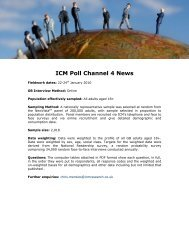 End of the recession Poll for Channel 4 News - ICM Research