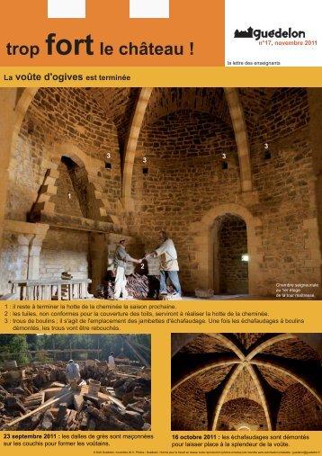 """Trop fort le château !"" N°17 (PDF - 468 Ko) - Guédelon"