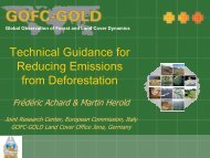 Technical Guidance for Reducing Emissions from Deforestation