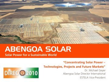 abengoa solar - Delhi International Renewable Energy Conference ...