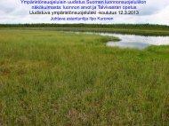 Ympäristönsuojelulain uudistus luonnonsuojeluliiton näkökulmasta