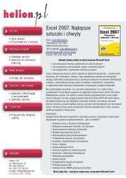 Excel 2007. Najlepsze sztuczki i chwyty - Structum