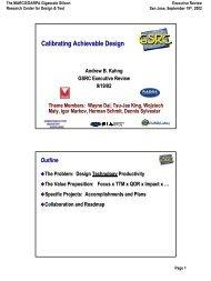 Executive Review, San Jose, September 2002. - UCSD VLSI CAD ...