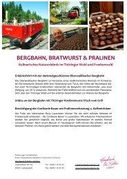 BERGBAHN, BRATWURST & PRALINEN - Oberweißbacher Bergbahn