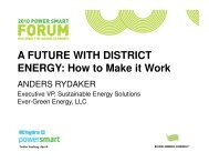 A FUTURE WITH DISTRICT ENERGY: How to Make it Work