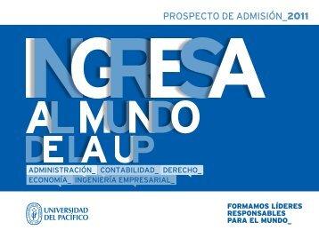 prospecto de admIsIón_2011 - Universidad del Pacífico