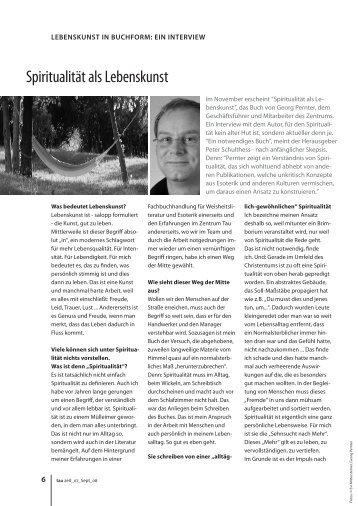 """Spiritualität als Lebenskunst"" (PDF"