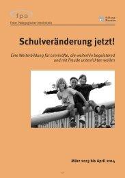 Schulveränderung jetzt! - Stiftung Mercator Schweiz