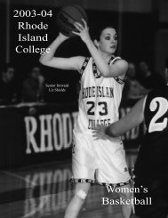 W.Basketball - Rhode Island College Athletics