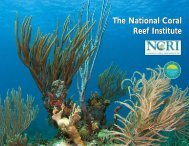 NCRI brochure - NOAA's Coral Reef Conservation Program