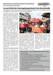Flugblatt - Alternative Kommunalpolitik