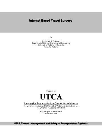 Internet Based Travel Surveys - University Transportation Center for ...