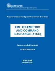 XML Telemetric and Command Exchange (XTCE) - CCSDS