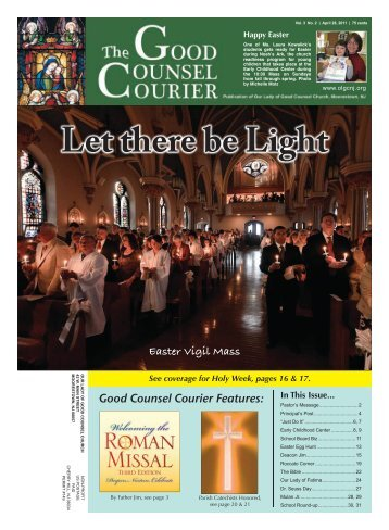 Easter Vigil Mass Good Counsel Courier Features: - Our Lady of ...