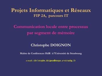 Communication entre processus par segment de mémoire partagée