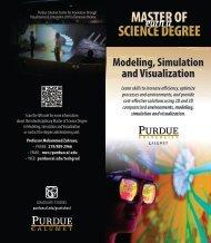 Modeling, Simulation and Visualization Brochure (PDF) - Purdue ...