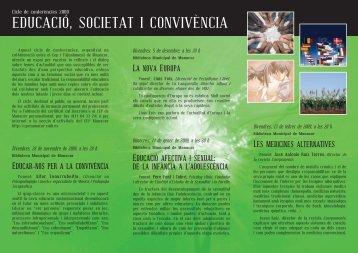 EDUCACIÓ, SOCIETAT I CONVIVÈNCIA