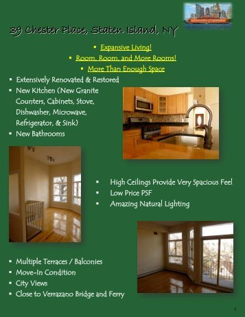 39 Chester Place, Staten Island, NY - ICA Realty Corp