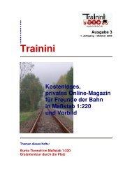 Trainini – Ausgabe 3 - Matijsse Downloads Trainini und 220dasjournal