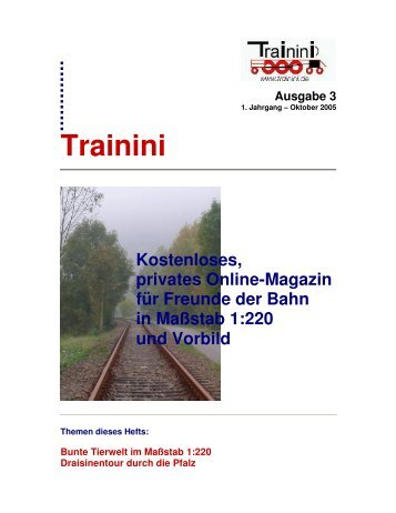 Trainini – Ausgabe 3 - Matijsse Downloads Trainini und 220dasjournal