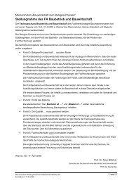 Stellungnahme des FA Baubetrieb und Bauwirtschaft