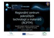 RCPTM - Technologické centrum AV ČR