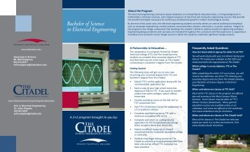Bachelor of Science in Electrical Engineering - The Citadel