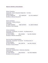 Elenco cliniche universitarie - Studio Oculistico dott. Amedeo Lucente
