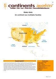 Etats-Unis - Continents Insolites