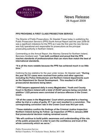 News Release - Public Prosecution Service