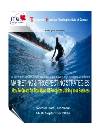 Marketing - ME training institute of Canada