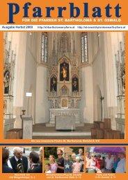 Herbst 2009 - der Pfarre St. Bartholomä