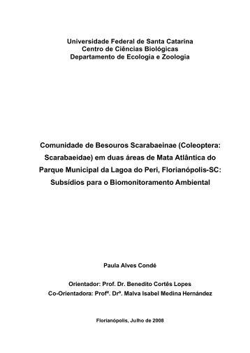(Coleoptera: Scarabaeidae) em duas áreas de Mata Atlântica do ...
