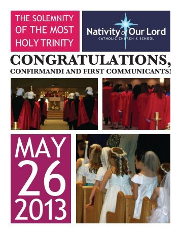 May 26, 2013 - Nativity of Our Lord Catholic Church