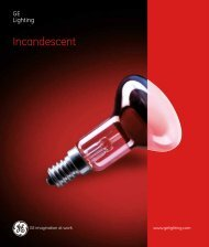Incandescent Lamps (Spectrum) - Catalogue - GE Lighting