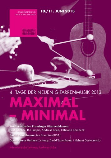 Programmheft zum Download - Open-Source-Guitars