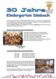 30 Jahre Kindergarten - Marktgemeinde Dimbach