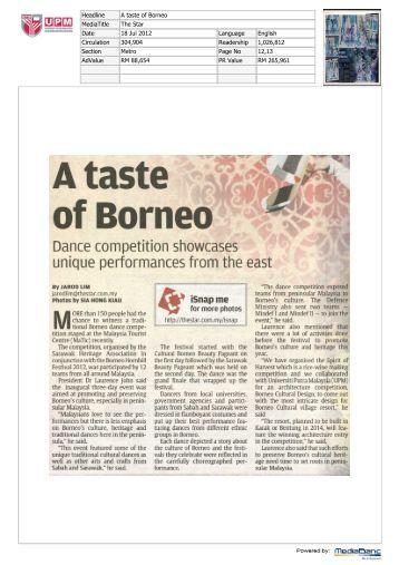 of Borneo - Universiti Putra Malaysia