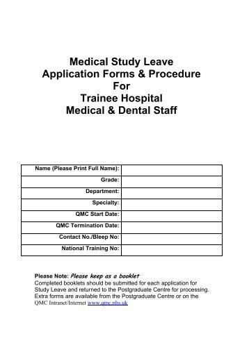 Medical Study Leave Application Forms U0026 Procedure For Trainee .  Leave Application Forms