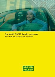 The MANN-FILTER Carefree package