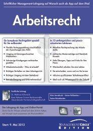 Schriftlicher Lehrgang: Arbeitsrecht - Management Circle AG