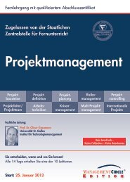 Schriftlicher Lehrgang - Management Circle AG