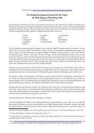 Registrieranweisung für die Orgel im Stift Haug zu ... - Walcker-Stiftung